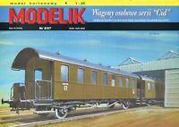 "ORIGINAL PAPER-CARD MODEL KIT - Railway carriages series ""CID"""