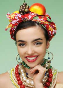 Carmen Miranda Style Bright Showgirl Fruit Hat
