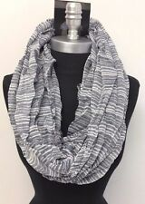 HIGH QUALITY Men's striped Blue/White infinity scarf circle cowl wrap long Soft