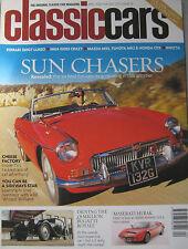 Classic Cars 04/2002 featuring Bugatti, Ferrari, MGA, Toyota MR2, Mazda, Honda