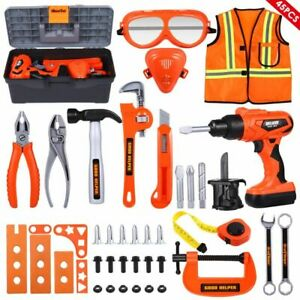 45 Pc Kids Educational Pretend Play Toys Repairman Electrician Complete Tool Set