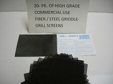 20 Pack Of Commercial Use Grill Griddle Screens Scrubbers Scour Cleaners