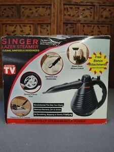 SINGER LAZER CLOTHES Garment STEAMER --- Portable with Attachments / BAG NIB