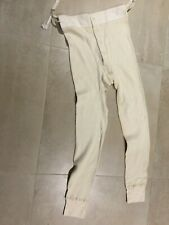 long johns ,us army small, nos, 1963, 100%cotton,off white, waffle weave