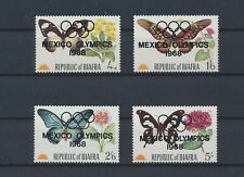 LM80507 Biafra 1968 overprint insects bugs flora butterflies fine lot MNH