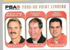 2005-06 PBA Point leaders insert card Rittenhouse Walter Ray Williams 65/150