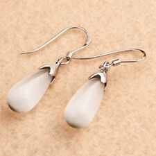 1 Pair Fashion Design Opal Drop Shape Earrings Jewelry Easy To Wear JCA