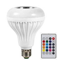 E27 LED Smart Licht RGBW Bluetooth Musik Player Birnen Mit Fernbedienung #R