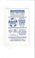 Goole Town v Southport 1980/81 Football Programme