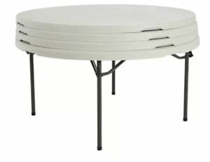 """Lifetime 4PACK 60"""" Round Commercial Grade Folding Table s"""
