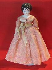 Antique vintage china head doll on modern cloth & bisque body