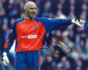David James, Manchester City & England, signed 10x8 inch photo. COA. Proof.