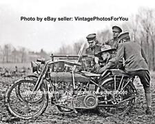 Old Antique World War 1 U.S. Army Harley Davidson Motorcycle Machine Gun Photo