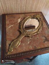 Face à Main de Style Louis XV en Bronze Miroir Biseauté