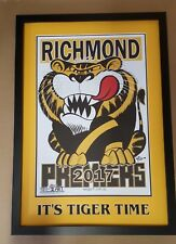 2017 WEG ART RICHMOND PREMIERSHIP POSTER MATTED & FRAMED ITS TIGER TIME