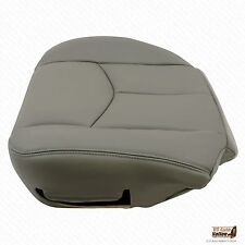 2005 2006 Chevy Avalanche Driver Bottom Replacement Leather Seat Cover Gray#922