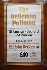 1970s 80s Sir John Betjeman Pullman Bedford Line Original Railway Poster