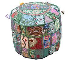 """22"""" Bohemian Patchwork Pouf Cover Ottoman Vintage Pouffe Moroccan Sit Chair Bean"""