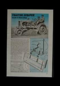 Scraper Blade for vintage Farm Tractor 6' wide 1946 How-To Build PLANS