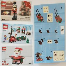 4 Lego Holiday Sets 40206 40262 40254 40059 INSTRUCTION MANUALS ONLY !