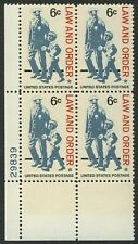 #1343 6c Law and Order, Plate Block [23839 LL], Mint **ANY 4=FREE SHIPPING**