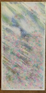 Abstract Oil Painting,'Doodle Dream' mixed medium canvas signed HB