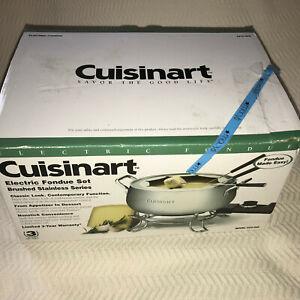 Cuisinart Electric Fondue Pot Maker Stainless Steel 3 Qt Model CFO-3SS Open Box