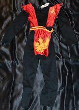 Tiny Ninja Warrior Halloween Costume Fits Kids Size 3T-4T Child Boys Stealth