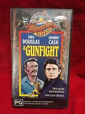 A Gunfight VHS Video Tape Gun Smokin Western Classics Kirk Douglas Johnny Cash