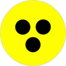 Blindenplakette National Blindenabzeichen Sehbehindert [25mm Button]