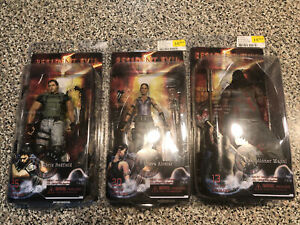 Resident Evil 5 Series Action Figures Chris Sheva & Executioner NECA New In Box