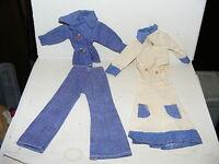 2 x alte Kleidung-Set-70er Jahre-Barbie-Petra-Puppe