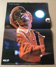 1976 Stevie Wonder photo vintage JAPAN magazine pin-up poster / RARE sw01m