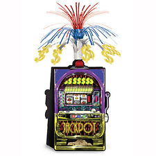 SLOT MACHINE CENTREPIECE CASINO VEGAS CLUB POKIES PARTY TABLE DECORATION JACKPOT