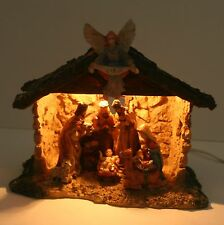 Vintage 60's Sears Lighted Nativity Set - Christmas Manger, One Piece, Resin