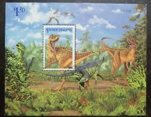 New Zealand Dinosaur Miniature sheet used