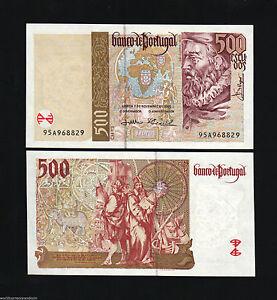 PORTUGAL 500 ESCUDOS P187 2000 BUNDLE 10 Pcs MILLENNIUM EURO DISCOVERY UNC NOTE