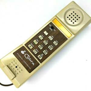 1980s Cobra Home Telephone Desk / Wall Mount Phone Only Dynascan Vintage TESTED!
