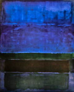 Mark Rothko Green And Brown Giclee Art Paper Print Poster Reproduction