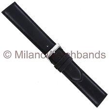 22mm Morellato Black Padded Genuine Italian Oil Leather Mens Watch Band XL 969