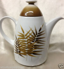 WINTERLING BAVARIA GERMNY KIRCHENLAMITZ 6 CUP COFFEE POT BROWN FROND PALM LEAVES
