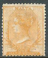 Malta 1875 yellow-buff 1/2d mint crown CC SG10