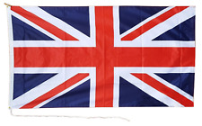 More details for united kingdom uk union jack 2 yard 6'x3' heavy duty rope and toggle boat flag