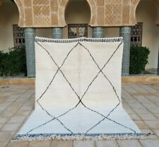 """Beni ourain Rug 9'10""""x6'8"""" Ft Moroccan Rug Handmade Authentic Wool Carpet"""