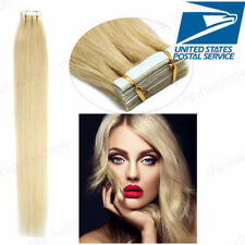 """16""""-24"""" 6A Indian Tape in 100% Real Remy Human Hair Extensions Straight 20Pcs US"""
