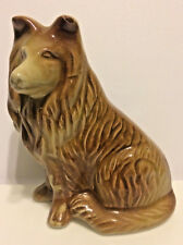 Ceramic Collie Lassie Vintage Figurine Brown Ceramic Collie Dog Figurine Brazil