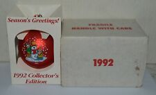 1992 Campbell Kids Glass Christmas Ornament Mail Away Premium Original Box