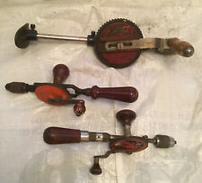 Vintage Record 441 Breast Drill + Millers Falls & Stanley Eggbeaters Used