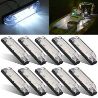 10 Marine Boat White LED Utility Strip Light Bar Courtesy Lights 6LED 12V Sealed