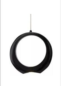 Kichler Elan 83319 Zuy Drop Pendent Led Light Black Chrome Modern Art Deco MK2